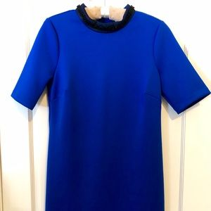 Royal blue stretch dress